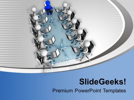 Business Meeting In Conference Room PowerPoint Templates Ppt Backgrounds For Slides 0713