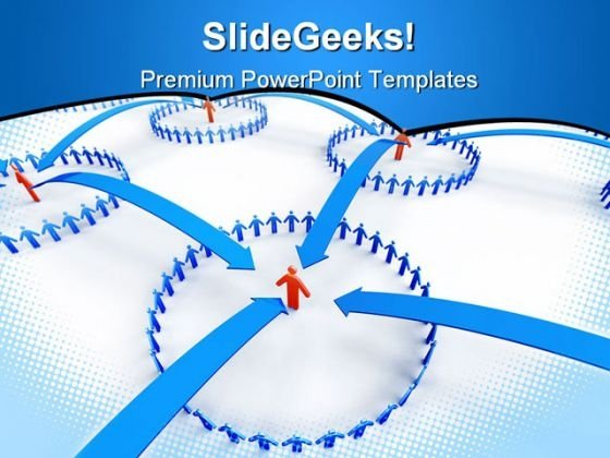 Business Network Communication PowerPoint Themes And PowerPoint Slides 0511