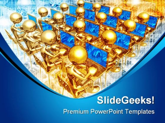Business Networking Computer PowerPoint Themes And PowerPoint Slides 0811