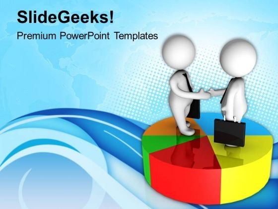 Business Partners Shaking Hands Marketing PowerPoint Templates Ppt Backgrounds For Slides 0713