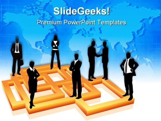 Business People Global Communication PowerPoint Themes And PowerPoint Slides 0511