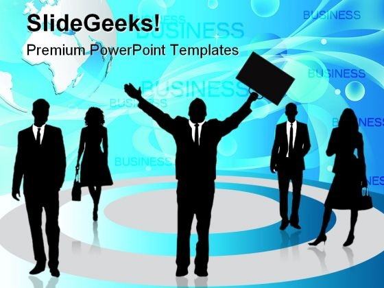 Business People Global PowerPoint Templates And PowerPoint Backgrounds 0611