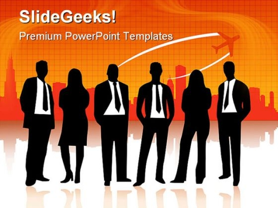 Business People Travel PowerPoint Themes And PowerPoint Slides 0411