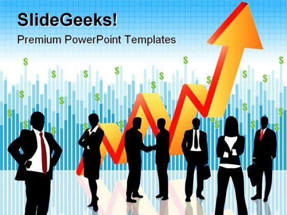 Business People With Growth Success PowerPoint Themes And PowerPoint Slides 0511