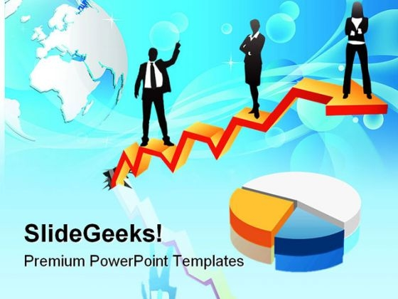 Business People With Pie Marketing PowerPoint Templates And PowerPoint Backgrounds 0511