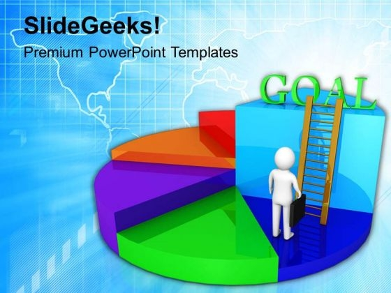 Business Pie Chart For Goal Achievement PowerPoint Templates Ppt Backgrounds For Slides 0613