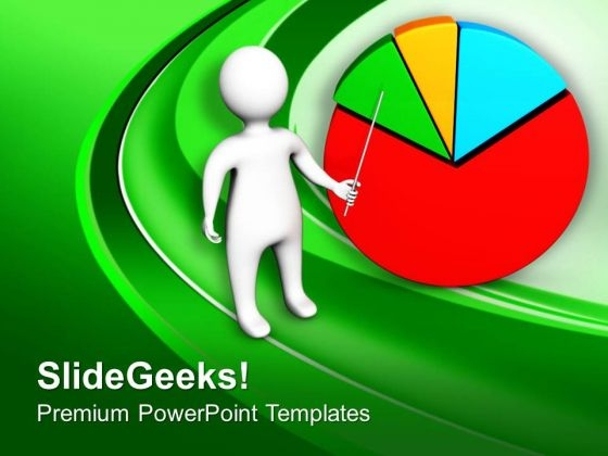 Business Pie Chart With Market Analysis PowerPoint Templates Ppt Backgrounds For Slides 0613