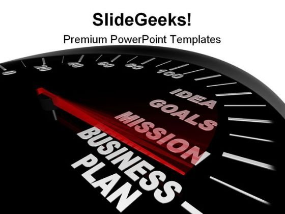 Business Plan Speedometer Future PowerPoint Template 1110