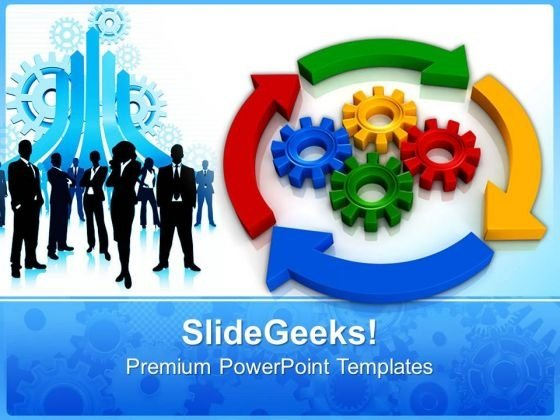 Business Process Diagrams Gearwheels PowerPoint Templates And PowerPoint Themes 0812