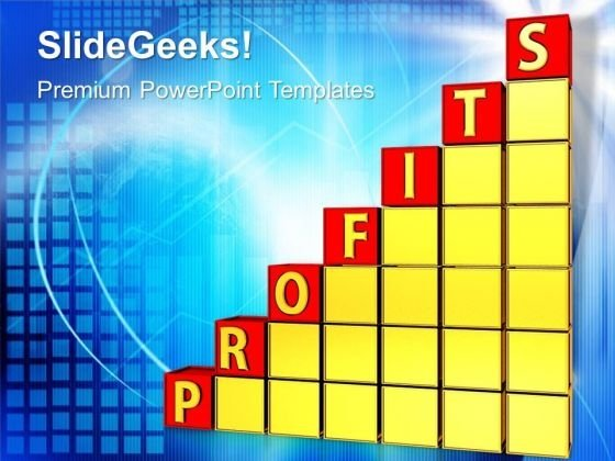 Business Profit Graph PowerPoint Templates And PowerPoint Themes 1012