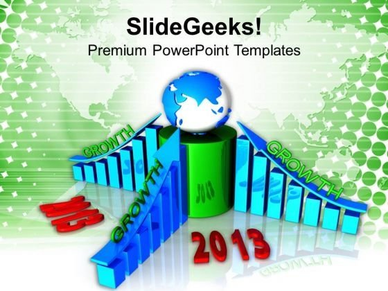 Business Profits Growth New Year PowerPoint Templates Ppt Backgrounds For Slides 1112