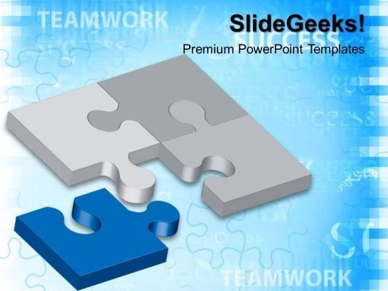 Business Puzzle Teamwork PowerPoint Templates And PowerPoint Themes 0412