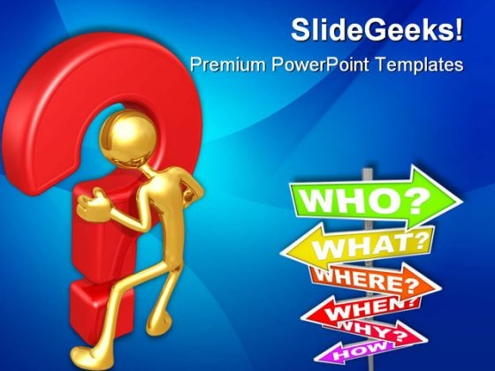 Business Questions Metaphor PowerPoint Themes And PowerPoint Slides 0511