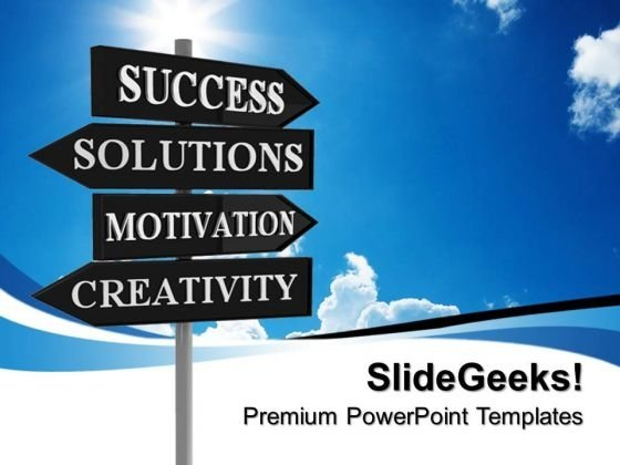 Business Signpost Success PowerPoint Templates And PowerPoint Themes 0712