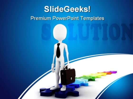 Business Solution Metaphor PowerPoint Themes And PowerPoint Slides 0311