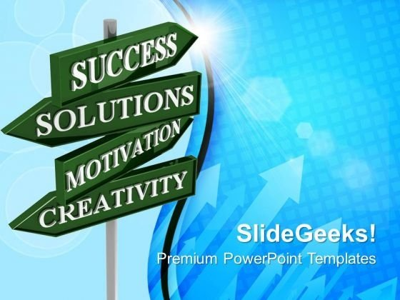 Business Solutions Road Signs Success PowerPoint Templates And PowerPoint Themes 0712
