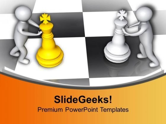 Business Strategies Are Like Playing Chess PowerPoint Templates Ppt Backgrounds For Slides 0713