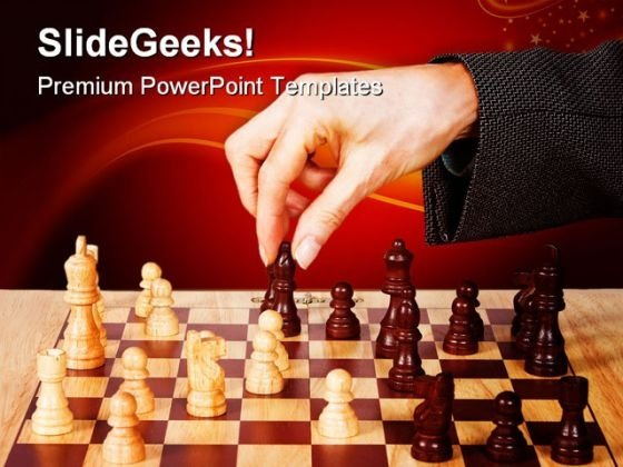 Business Strategy Chess Game PowerPoint Templates And PowerPoint Backgrounds 0211