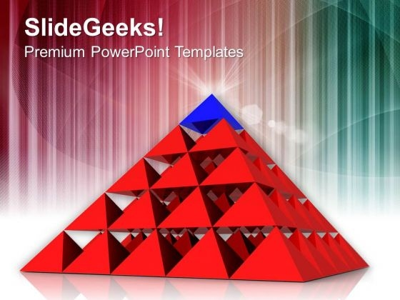 Business Strategy Pyramid PowerPoint Templates Ppt Backgrounds For Slides 0413
