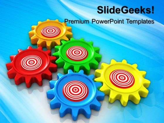 Business Target Gearwheels PowerPoint Templates And PowerPoint Themes 0512