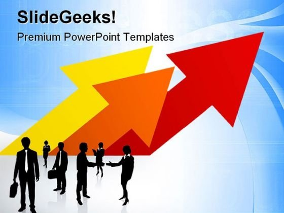 Business Team And Arrows Success PowerPoint Templates And PowerPoint Backgrounds 0611