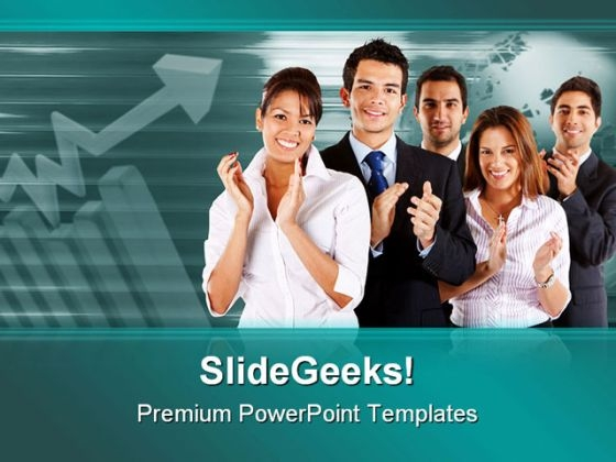 Business Team Applauding Success PowerPoint Templates And PowerPoint Backgrounds 0511