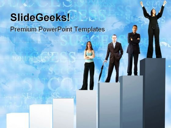 Business Team Graph Success PowerPoint Templates And PowerPoint Backgrounds 0611