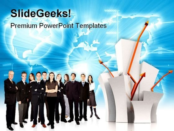 Business Team Of Success Global PowerPoint Templates And PowerPoint Backgrounds 0611