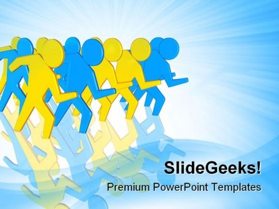 Business Team People PowerPoint Templates And PowerPoint Backgrounds 0611
