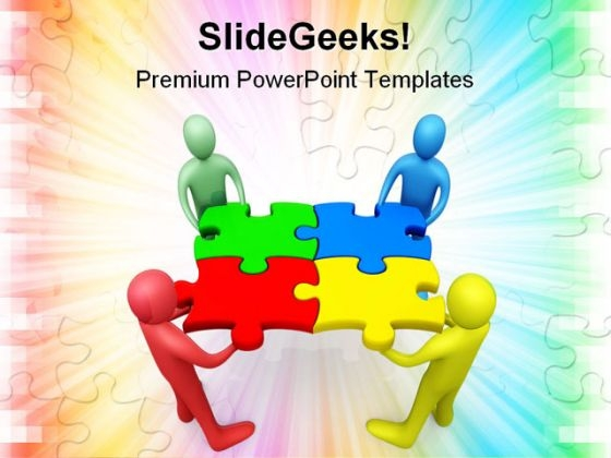 Business Team Shapes PowerPoint Themes And PowerPoint Slides 0511