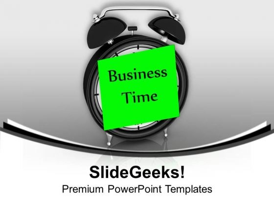 Business Time To Show Your Ability PowerPoint Templates Ppt Backgrounds For Slides 0713