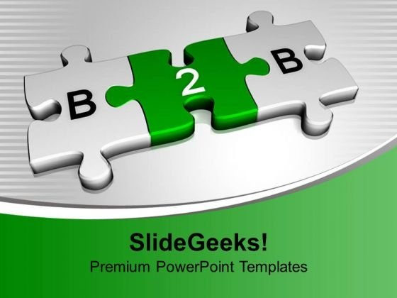 Business To Business Jigsaw Puzzle PowerPoint Templates Ppt Background For Slides 1112