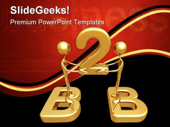 Business To Business Metaphor PowerPoint Templates And PowerPoint Backgrounds 0511