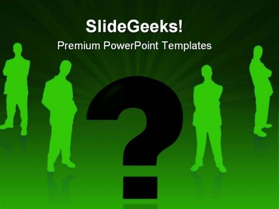 Businessman And Question Metaphor PowerPoint Themes And PowerPoint Slides 0611