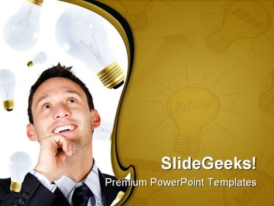 Businessman Creativity Success PowerPoint Templates And PowerPoint Backgrounds 0211