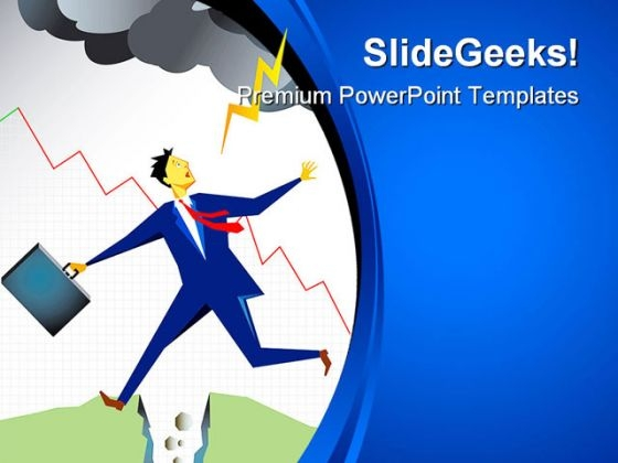 Businessman In Trouble Business PowerPoint Themes And PowerPoint Slides 0211