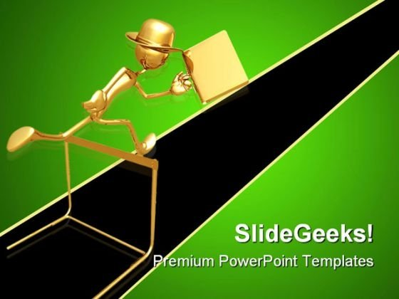 Businessman Jumping Success PowerPoint Themes And PowerPoint Slides 0511