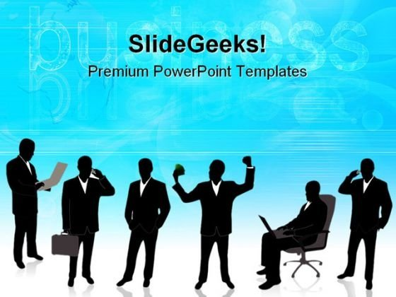 Businessman Success PowerPoint Templates And PowerPoint Backgrounds 0811