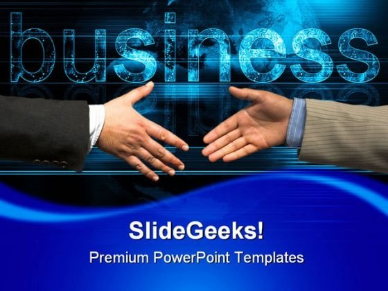 Businessman Together Handshake PowerPoint Templates And PowerPoint Backgrounds 0311