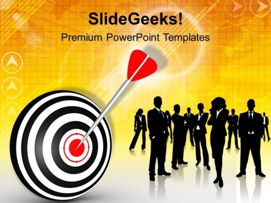 Businessmen Achieved Target Strategy PowerPoint Templates Ppt Backgrounds For Slides 0313