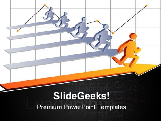 Businessmen Leadership PowerPoint Templates And PowerPoint Backgrounds 0511