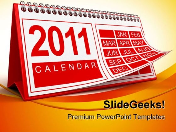 Calendar 2011 Future PowerPoint Backgrounds And Templates 0111