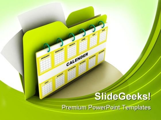 Calender Icon Symbol PowerPoint Templates And PowerPoint Backgrounds 0211