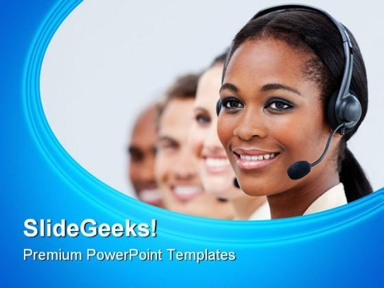 Call Center Business PowerPoint Themes And PowerPoint Slides 0811