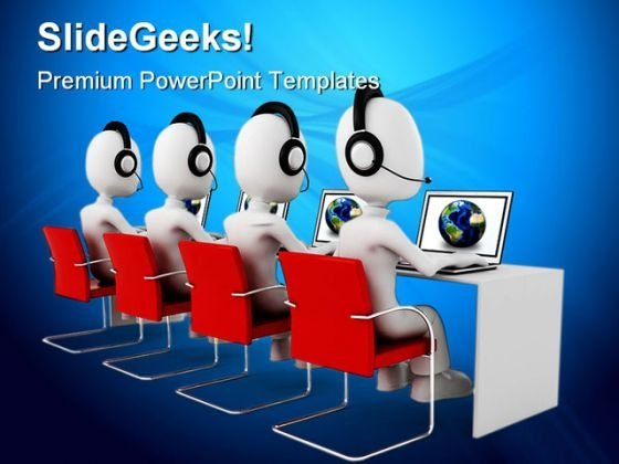 Call Center Computer Global PowerPoint Themes And PowerPoint Slides 0311