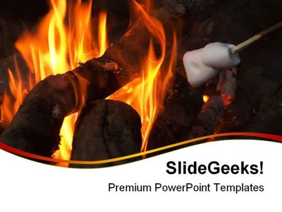 Camp Fire Lifestyle PowerPoint Themes And PowerPoint Slides 0411