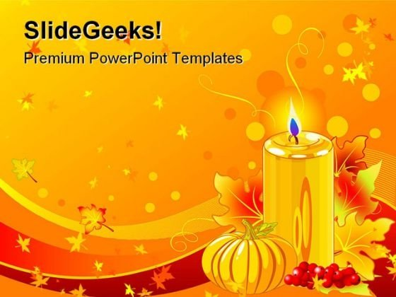 Candle Abstract Religion PowerPoint Template 0610