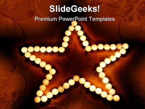 Candles09 Festival PowerPoint Themes And PowerPoint Slides 0411