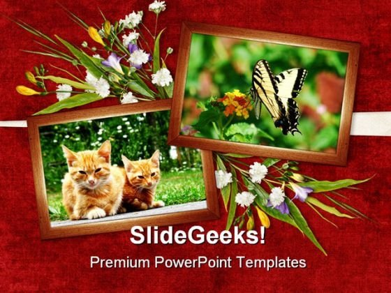 Card For Animals Nature PowerPoint Themes And PowerPoint Slides 0311