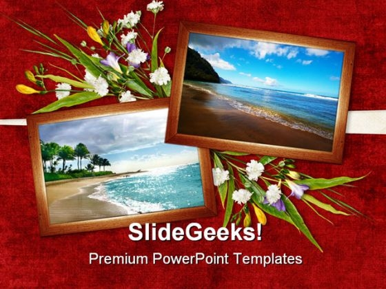 Card For Beach Beauty PowerPoint Templates And PowerPoint Backgrounds 0311